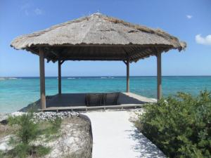 Our own private hut in Bahamas